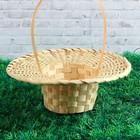 Корзинка «Шляпа», плотного плетения, D=23 см, Н=6 см