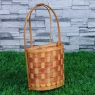 Кашпо «Корзинка», полукруглое плетеное, 14х7,5х26 см, бамбук