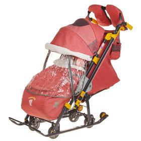 Санки коляска «Ника детям 7-3/2», цвет красный
