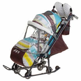 Санки коляска «Ника детям 7-3/6», цвет скандинавский бирюзовый