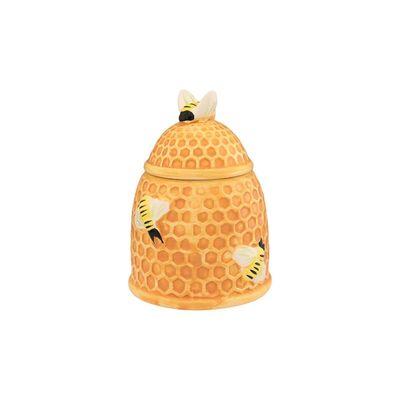 """Горшочек для мёда, """"Пчелки на сотах"""" 10,5 х 10,5 х 14 см, 450 мл"""