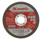Круг отрезной по металлу MATRIX, 115 х 1,0 х 22 мм