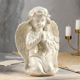 """Статуэтка """"Ангел молящийся"""", перламутровый, 33,5 см"""