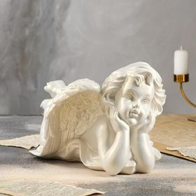 """Статуэтка """"Ангел лежащий"""", перламутровая, 20 см"""