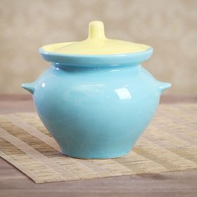 0.45 L roasting pot, yellow-blue