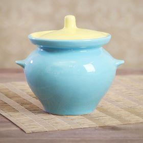 Горшок для запекания 0,45 л, жёлто-голубой