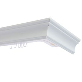 Карниз трёхрядный 160 см, с декоративной планкой «Стандарт», цвет белый