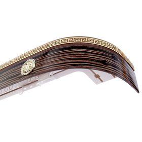 Карниз трёхрядный «Ультракомпакт. Медуза», 280 см, с декоративной планкой 7 см, цвет коричневый