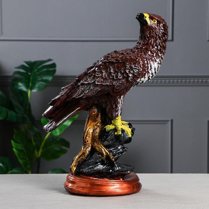 """Сувенир """"Сокол"""", коричневый цвет, 44 см - фото 1743896"""