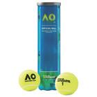Мяч теннисный WILSON Australian Open, фетр, натуральная резина, 4 шт., жёлтый, WRT119800