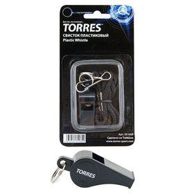 Свисток с шариком TORRES, шнурок с карабином в комплекте, цвет чёрный Ош