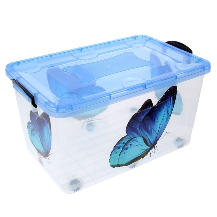 "Контейнер 50 л ""Hide box. Бабочка"", цвет прозрачный"