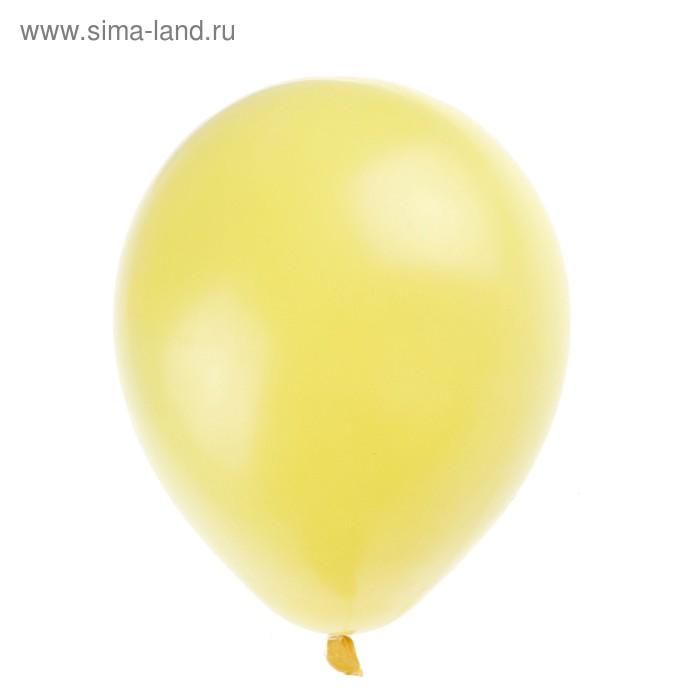 "Шар латексный 100 шт. 7"" Пастель Желтый"