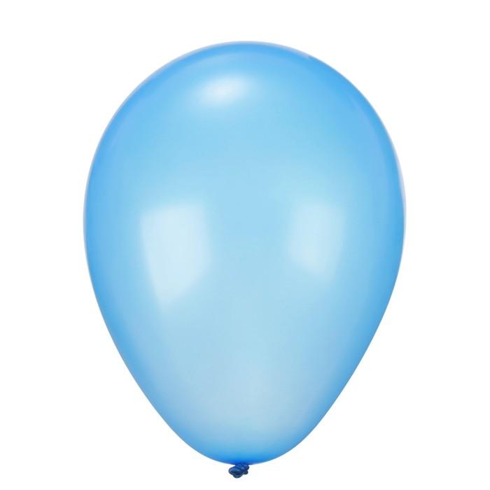 """Шар латексный 12"""", металл, набор 25 шт., цвет синий"""