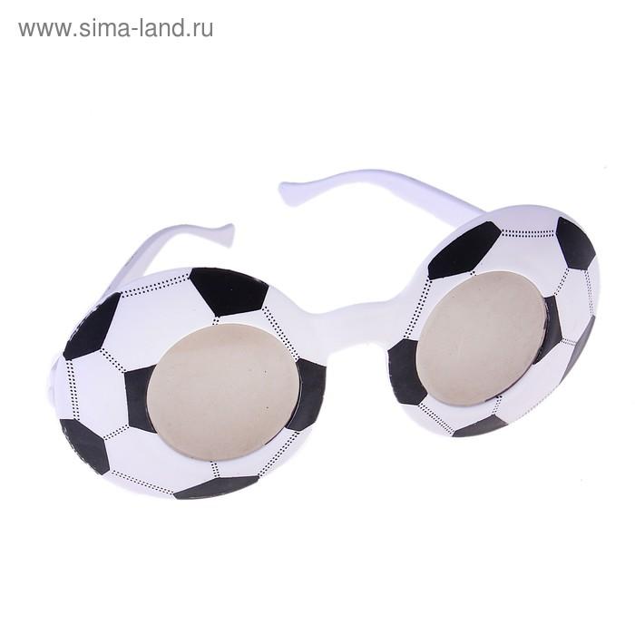 """Карнавальные очки детские """"Футбол"""" черно-белые"""