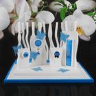 Набор подставок для бижутерии 60*45*40 см, цвет бело-голубой