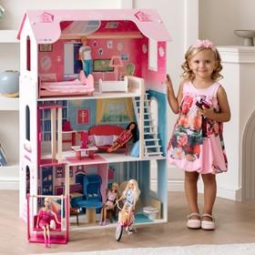 Кукольный домик «Муза» (16 предметов мебели, лестница, лифт, качели)