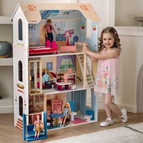Кукольный домик «Грация» (16 предметов мебели, лестница, лифт, качели)
