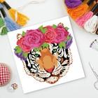 Вышивка крестиком «Тигр» 35 х 35 см. Набор для творчества