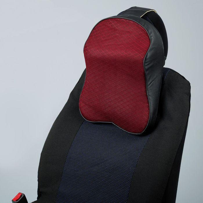 Подушка-подголовник на сиденье автомобиля, 27 х 38 см, черно-красная