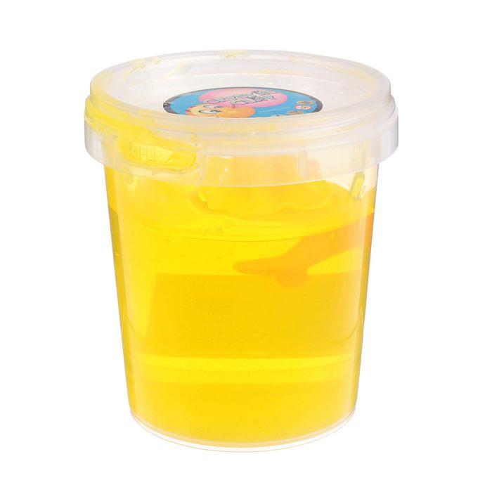 Лизун в банке твердый с игрушкой 400 мл, цвет желтый