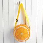 """Сумочка детская """"Весёлый апельсин"""", круглая, 15 см"""