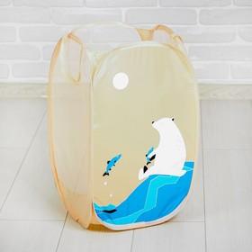 Корзина для игрушек «Белый медведь»