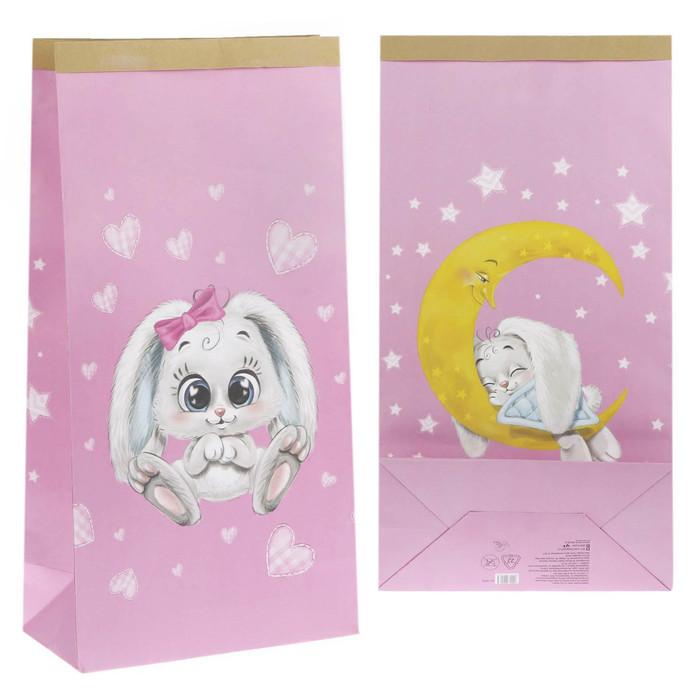 Пакет крафтовый «Любимая малышка», 64 х 32 х 16 см
