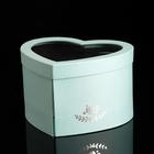 """Коробка в форме сердца """"Сердце"""" с окном, голубой, 25 х 22 х 15 см - фото 308271775"""