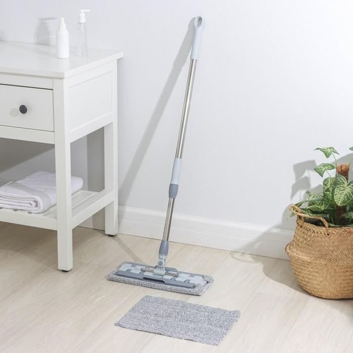 Flat MOP, telescopic handle 83-130 cm, 2 made of microfiber