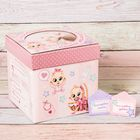 """Памятная коробка для новорожденных """"Сокровища нашей малышки"""""""