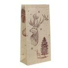 Пакет крафтовый «Зимнее настроение», 32 х 64 х 16 см