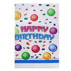 """Скатерть """"С днём рождения"""" цветные шары, 132х220 см"""