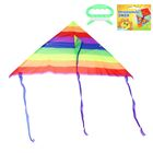 "Kite ""colorful stripes"" with fishing line"