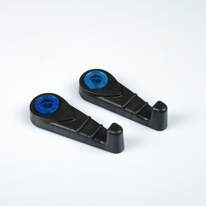 Крючок-вешалка пластиковый, черный, набор 2 шт.
