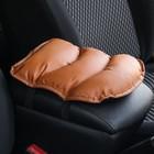 Подушка на подлокотник автомобиля, экокожа, 19 х 26 см, рыжая