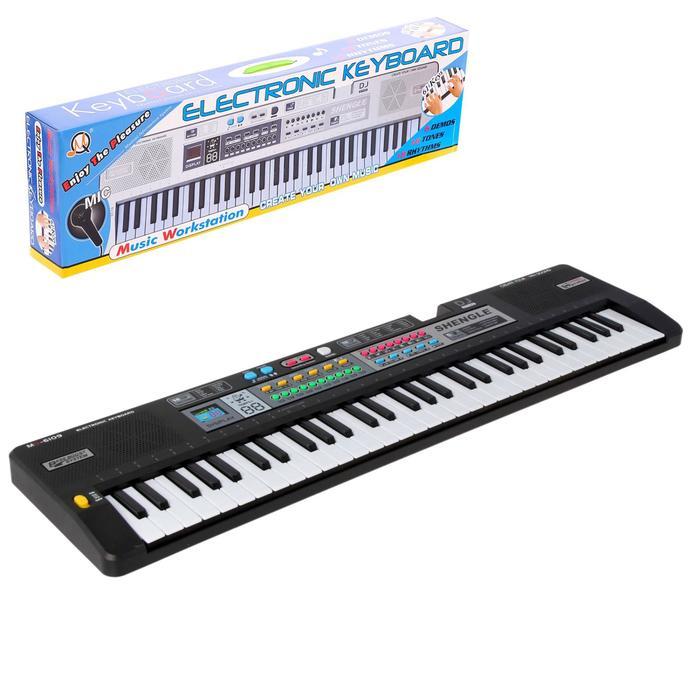 Синтезатор «Кантри» с микрофоном, 61 клавиша
