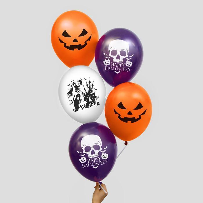 """Balloon 12"""" """"Horror stories"""", set 50 PCs, MIX"""