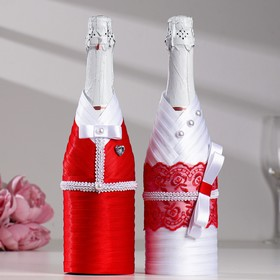 "Decoration champagne ""Carmen"", red-white"