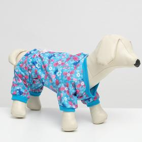 Комбинезон для собак цветной, девочка, L ( дс 28-30 см, ош 32 см, ог 36-40 см)