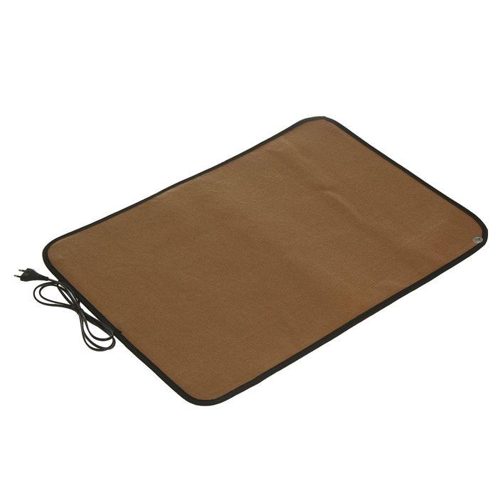 Теплый коврик для сушки обуви ТК-3, 80 Вт, коричневый