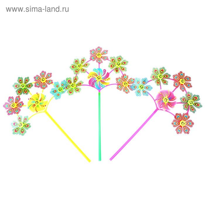 """Ветерок """"Цветок прозрачные лепестки"""", цвета МИКС"""