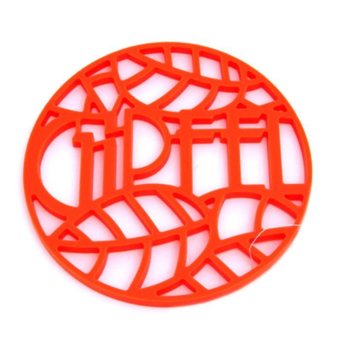 Подставка под горячее Glum, 17 х 17 х 0,8 см, оранжевая