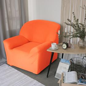 Чехол для мягкой мебели в детскую Collorista на кресло, наволочка 40х40 см в подарок, оранжевый