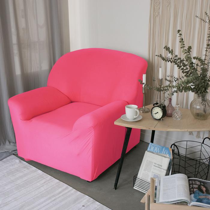 Чехол для мягкой мебели в детскую Collorista на кресло, наволочка 40х40 см в подарок, розовый