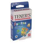 """Лейкопластырь бактерицидный Teneris """"Fun Kids"""" с ионами серебра на полимерной основе. 20 шт"""