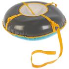 Тюбинг-ватрушка, ф 0,85 м, меховое сиденье, цвета микс