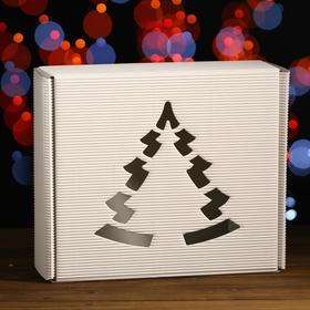 Подарочная коробка, белая, сборная, 29 х 25 х 9,5 см Ош