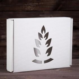 Подарочная коробка, белая, сборная, 28,7 х 22 х 5,8 см Ош