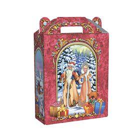 Подарочная коробка 'Дед Мороз и Снегурочка', сборная, 16.8 х 7 х 25 см Ош